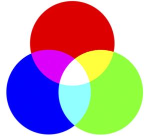 RGB colors pel print
