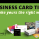 Business card tips - Make yours the right way - Pel Hughes print marketing new orleans