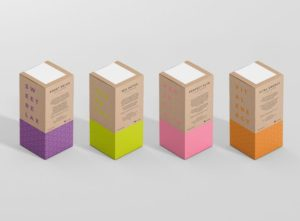 colorful product packaging